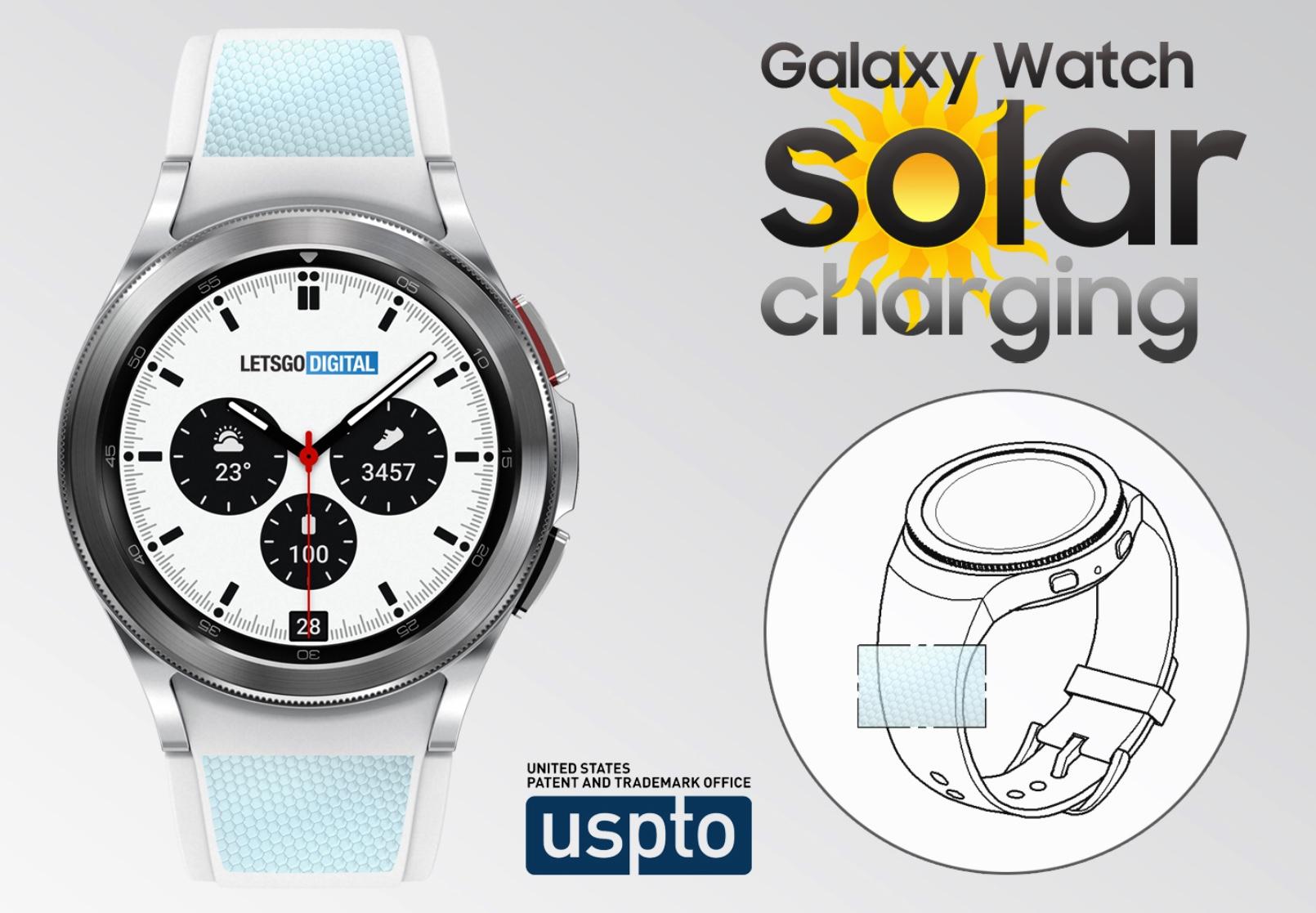La prochaine montre connectée de Samsung pourrait avoir un système de recharge solaire.